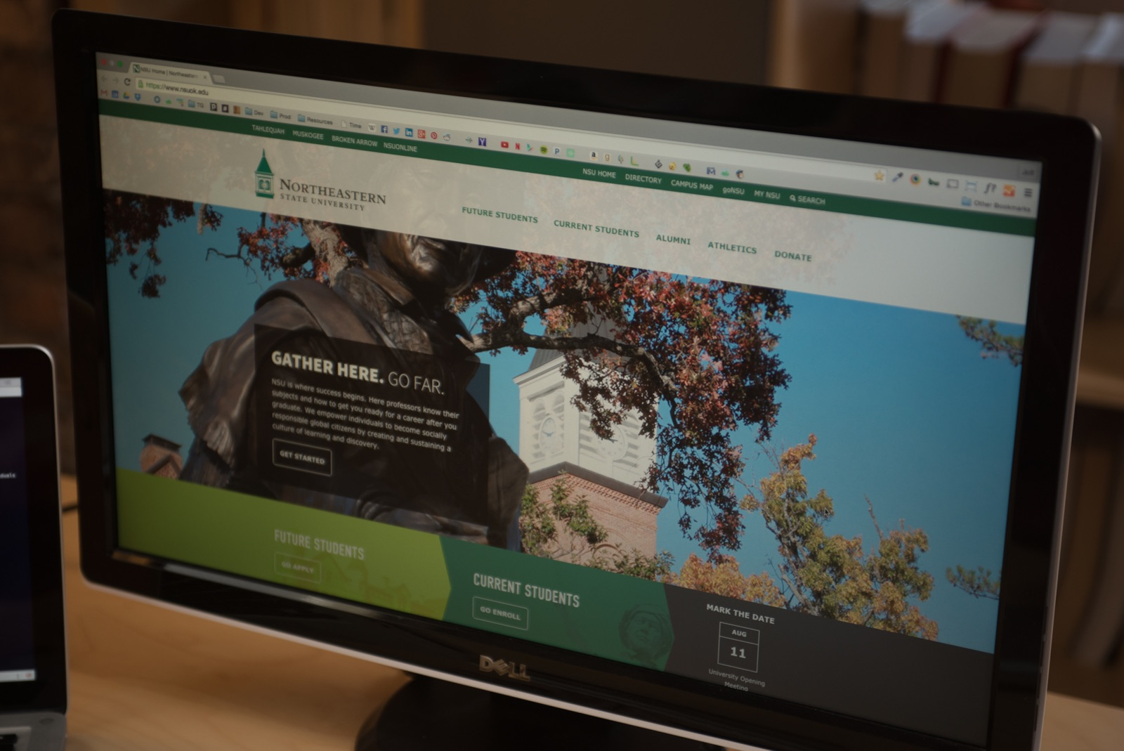 The NSU website viewed on a desktop
