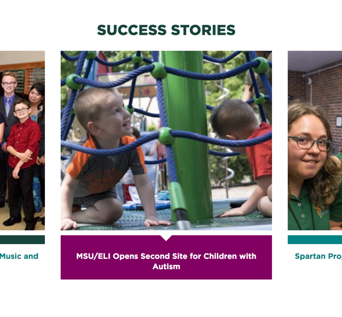 A Stories page from the MSU RAIND website